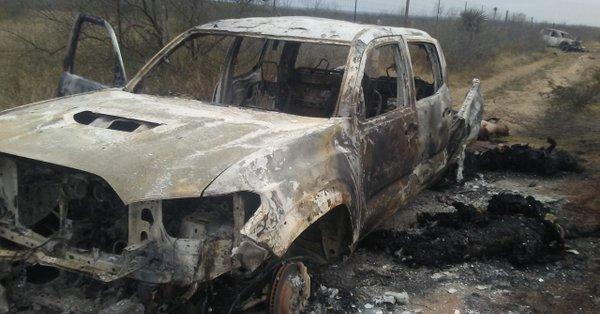 Sedena encuentra 19 cuerpos calcinados en camionetas al sur de Tamaulipas