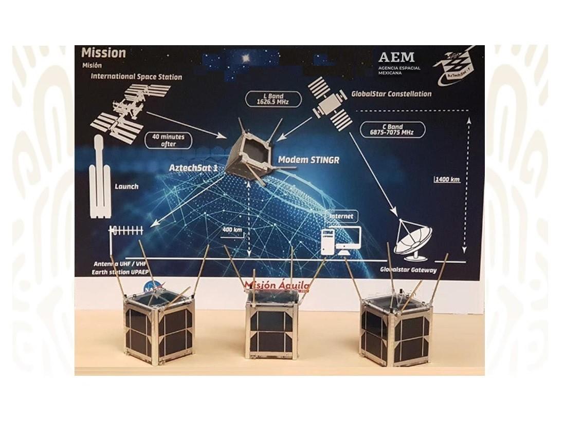 Llega a la NASA nanosatélite mexicano Aztechsat-1