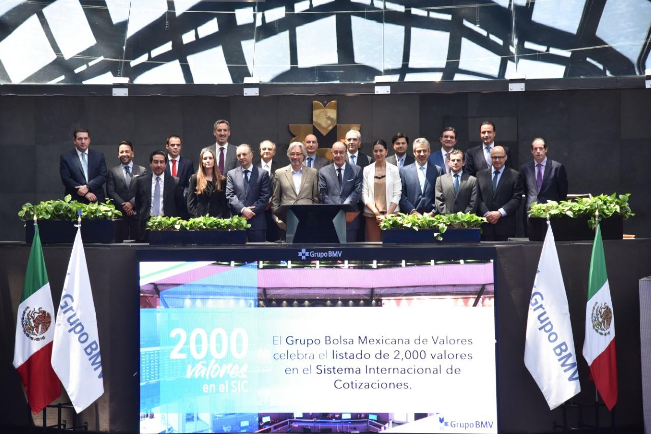 El Sistema Internacional de Cotizaciones (SIC) de la BMV alcanzó un récord de más de 2,000 valores listados
