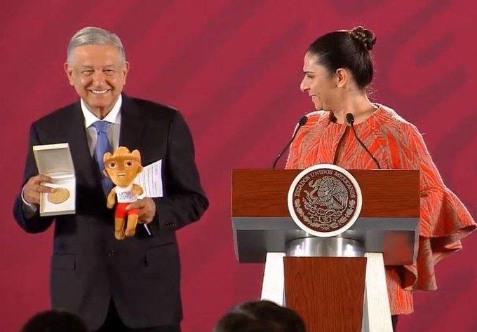 Ana Gabriela Guevara celebra con López Obrador histórico papel de México en los Juegos Panamericanos de Lima 2019